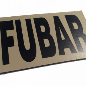 "FUBAR IR Reflective Infrared Velcro Patch - 3.5""X 2"""