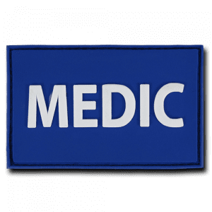 "Medic PVC Patch - Blue 2""x 3"""