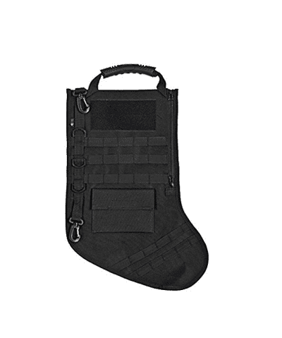 Tactical Christmas Stocking with Molle Gear - Black