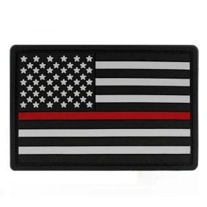 "Thin Red Line PVC Patch 2"" x 3"""