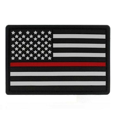 """Thin Red Line PVC Patch 2"""" x 3"""""""