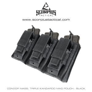 Condor Ma55 Triple Kangaroo AR-15 Mag Pouch With Molle Attachments