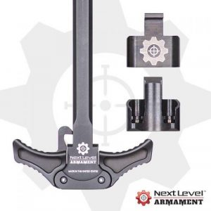 Next Level Armament MPX ambidextrous charging handle with spring plate